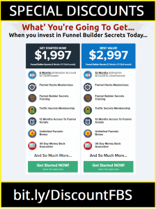 Clickfunnels Pricing Chart